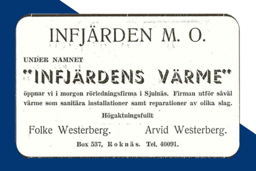infjärdens-värme-historia-tidningsannons-pitea-tidningen