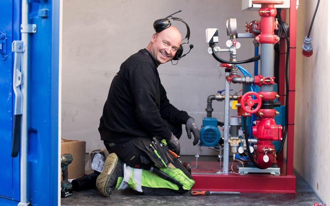 Sprinklermontör, Holmsund
